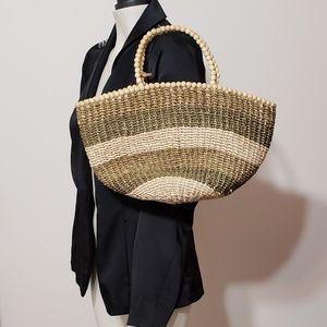 Nine West straw handbag